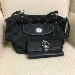 A Coach bag and wallet in good used condition